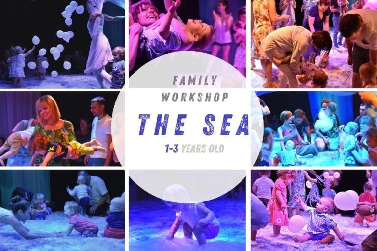 Collage Workshop De Zee voor kinderen 1 tm 3 jaar