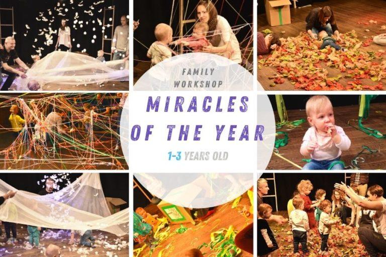 Collage Workshop De Mirakels van het jaar Workshop voor kinderen 1 tm 3 jaar